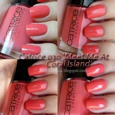 Catrice Meet Me At Coral Island Swatch by Radi Dimitrova