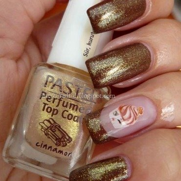 pastel Perfumed Top Coat 'Cinnamon Swatch by Radi Dimitrova