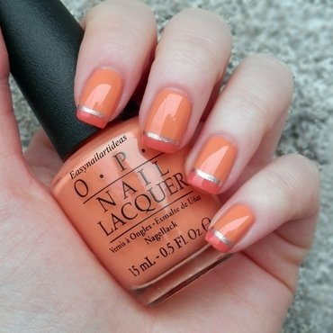 SIMPLE ORANGE FRENCH DESIGN  nail art by Easynailartideas