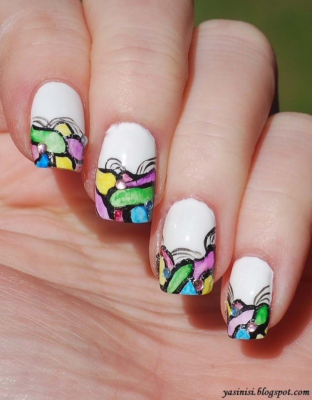 Inspired by Tartofraises #2 nail art by Yasinisi