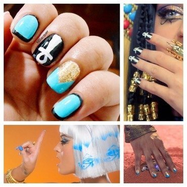 Dark Horse Inspired Nails nail art by Monica S.