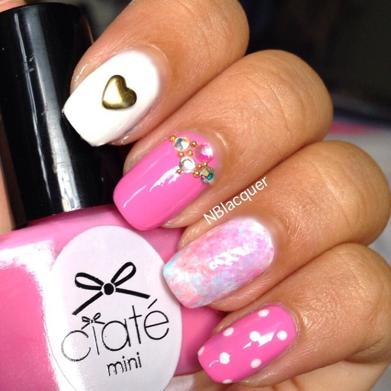 Unicorn Candy Nail nail art by Monica S.