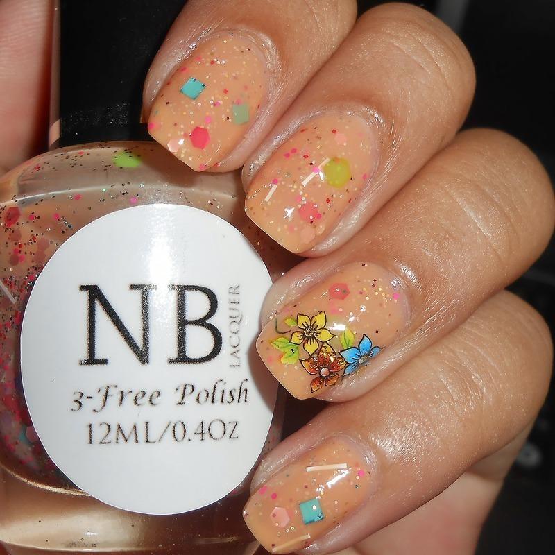 Spring Poppy nail art by Monica S.