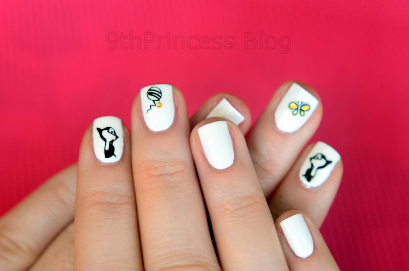 Kitty nail art by 9th Princess