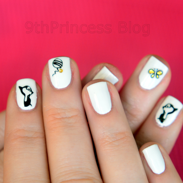 Kitty nail art by 9th Princess