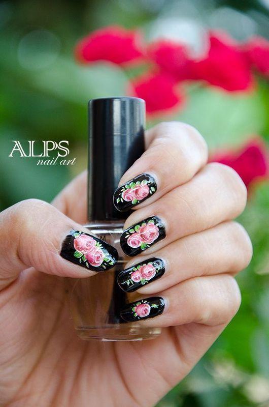 Blossom Time by Alpsnailart  nail art by Alpsnailart