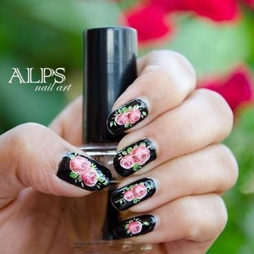 Blossom Time by Alpsnailart  nail art by Alpsnailart
