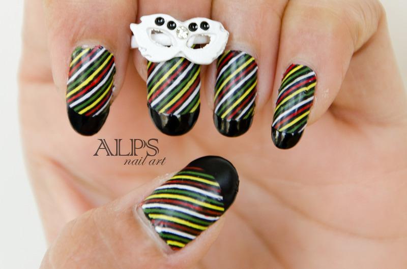 Stripes Nails by Alpsnailart nail art by Alpsnailart