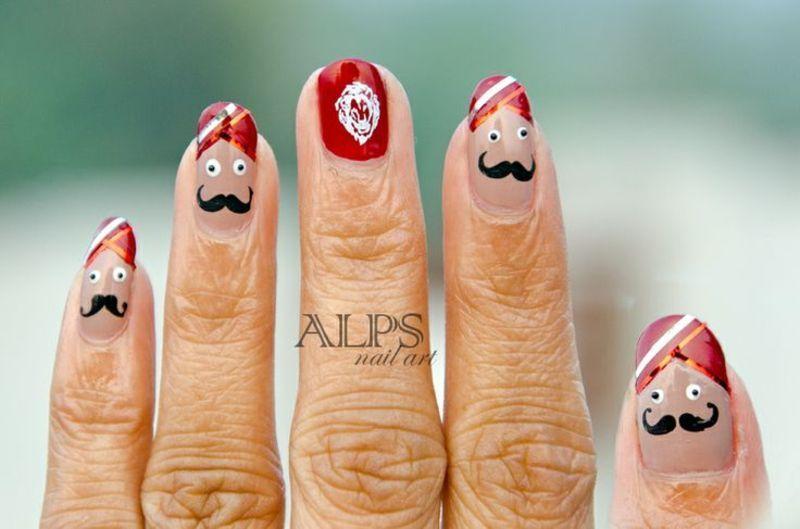 Sardar the Indian Turban Man by Alpsnailart nail art by Alpsnailart
