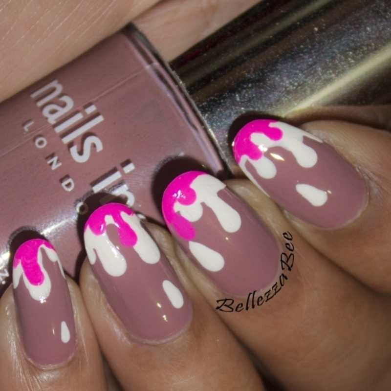 Double Drips nail art by Naomi Hing