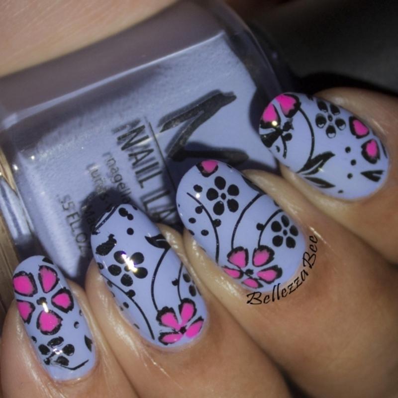 Grape Goodness nail art by Naomi Hing