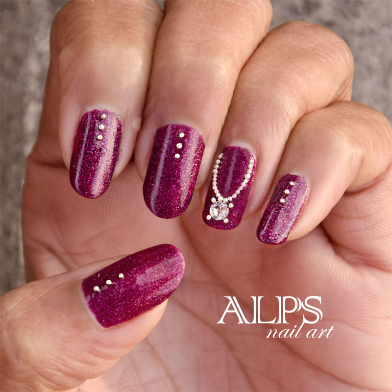 Jewel Nails by alpsnailart nail art by Alpsnailart