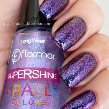 Flormar supershine miracle u28 over black polish  8  thumb370f