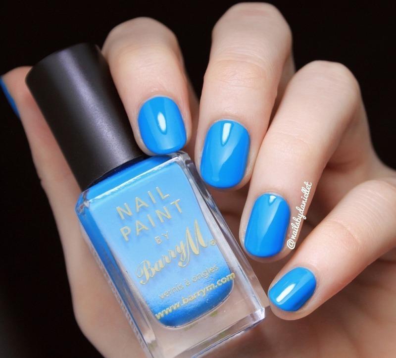Barry M Cyan Blue Swatch by Danielle