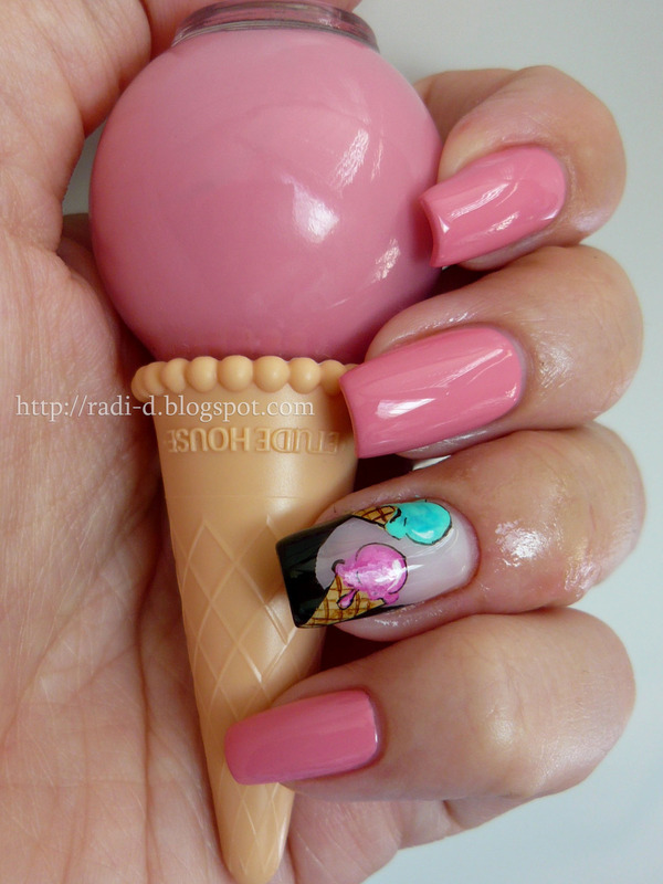 Etude House Ice Cream PK001 Swatch by Radi Dimitrova - Nailpolis ...