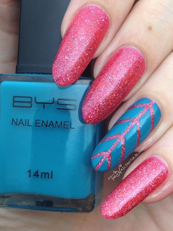 Angled Accent Nail nail art by Rachael Robinstein