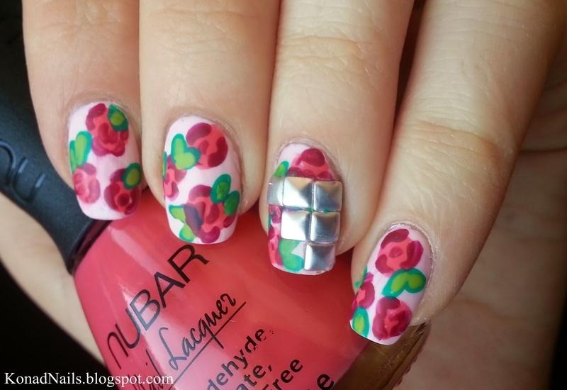 Spring flowers nail art by KonadAddict