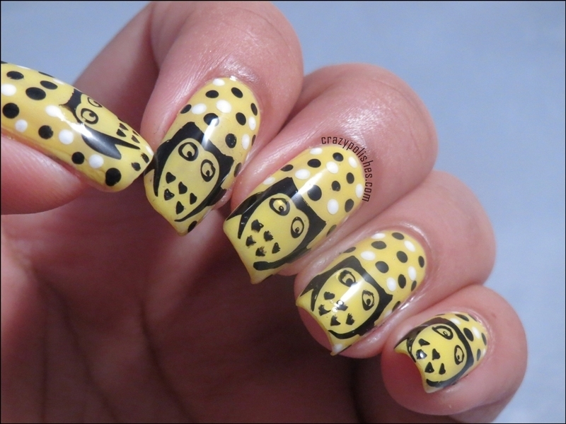 Cute Owls nail art by CrazyPolishes (Dimpal)