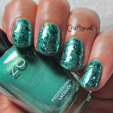 Teal glitter nails thumb370f