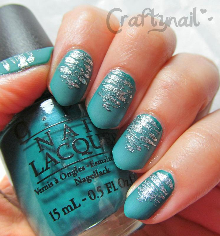 Mattified Flosspik Nail Art  nail art by Jacqui D.