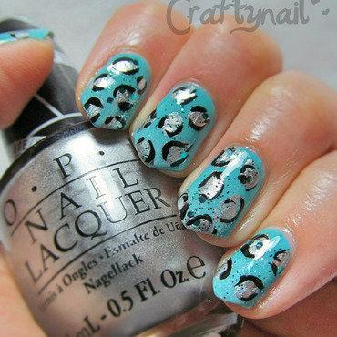 Aqua leopard nailart thumb370f