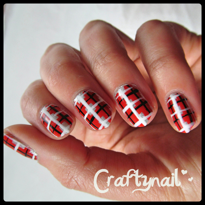 Plaid Nails nail art by Jacqui D.