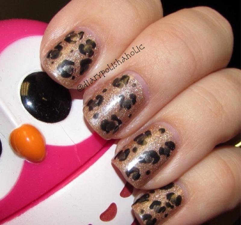 La la la leopard nail art by Kat