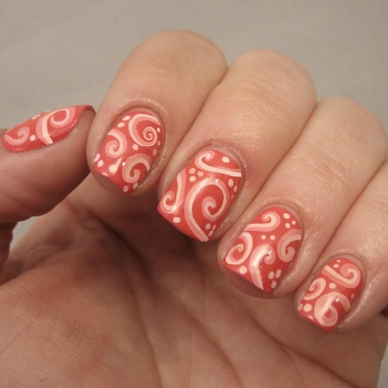 Swirl Pattern Nail Art By Jennifer Collins Nailpolis Museum Of