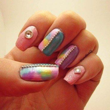 Watercolors nail art by Karolyn
