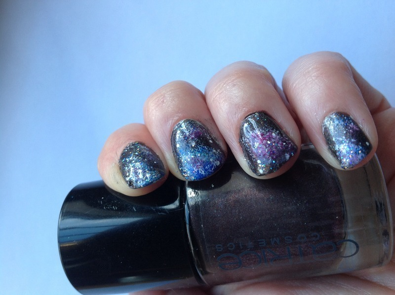 Galaxy nail art by Subflava