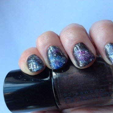 Galaxy nail art by Subflava