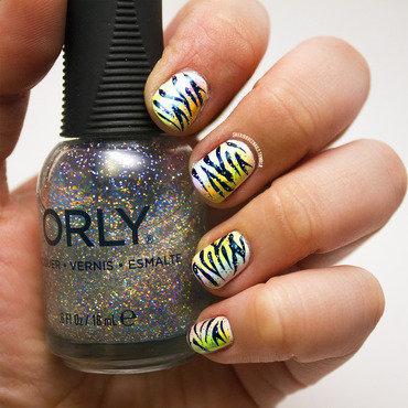 Nail art   rainbow zebra thumb370f