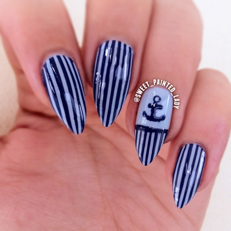 Sail Away  nail art by Stacey Lee  Warren
