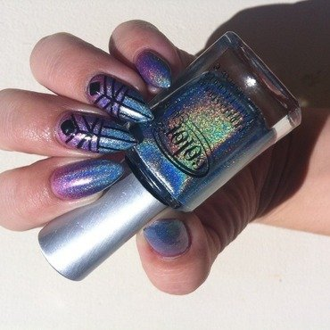 Geometric Holographic  nail art by Stacey Lee  Warren
