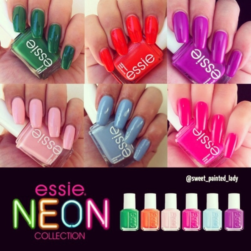 Essie rock the boat, bottle serivice, dj play that song, disco fever, pink about it Swatch by Stacey Lee  Warren