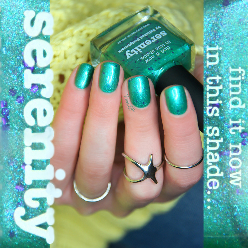 piCture pOlish serenity. nail art by Paulina