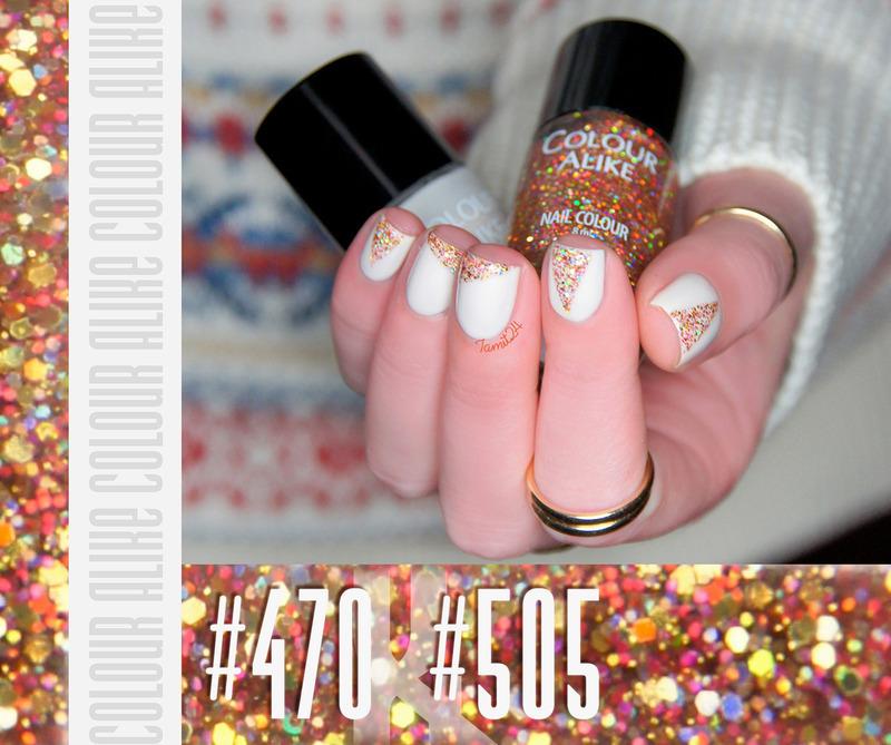 Glitter Triangle Nails nail art by Paulina
