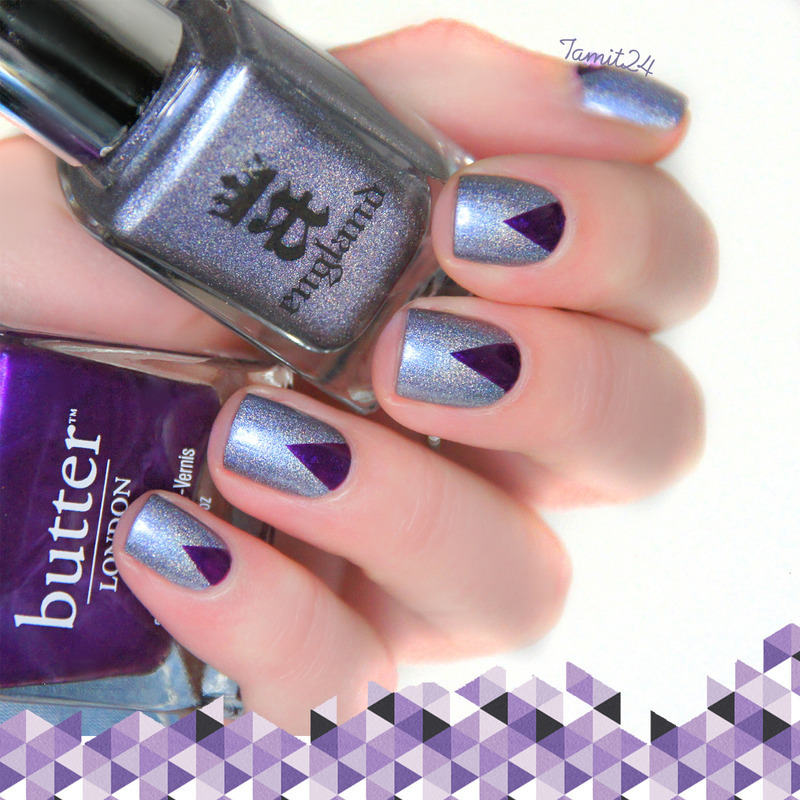 Purple Triangle Nails nail art by Paulina