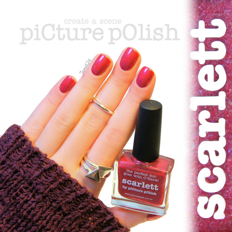 piCture pOlish Scarlett Swatch by Paulina