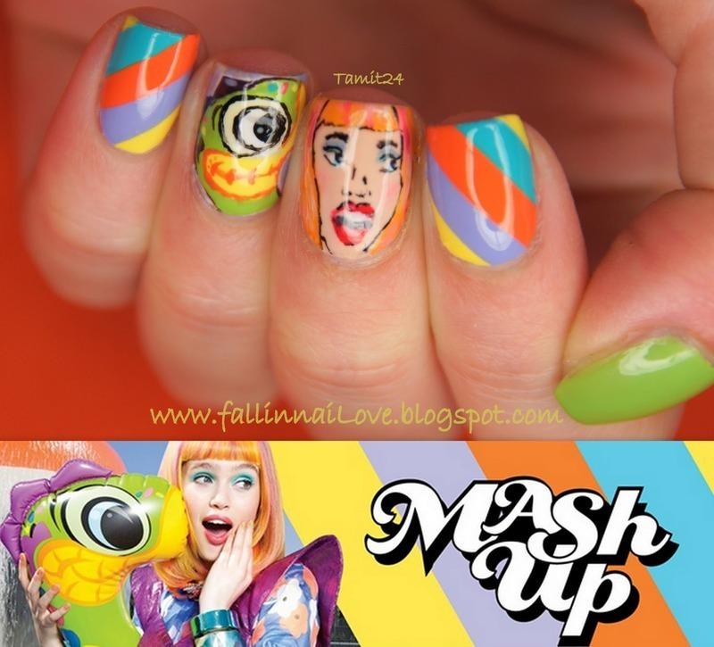 Masz Up! nails. nail art by Paulina