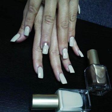 nude sash nail art by Vanessa Nesbitt