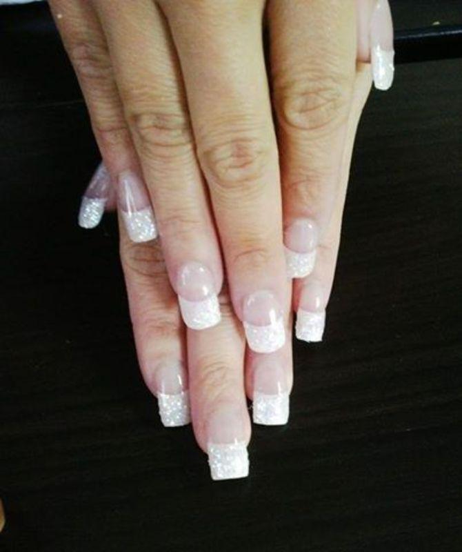 glitz nail art by Vanessa Nesbitt