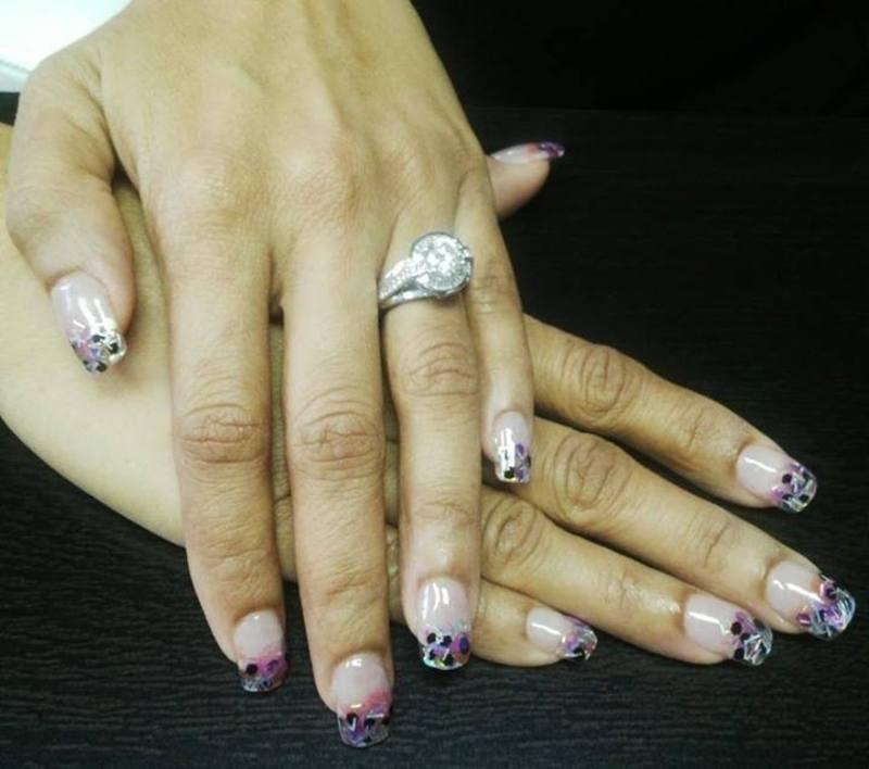 ice nail art by Vanessa Nesbitt
