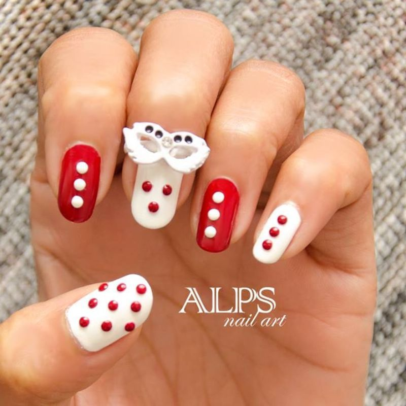 Polka Dots by Alpsnailart nail art by Alpsnailart