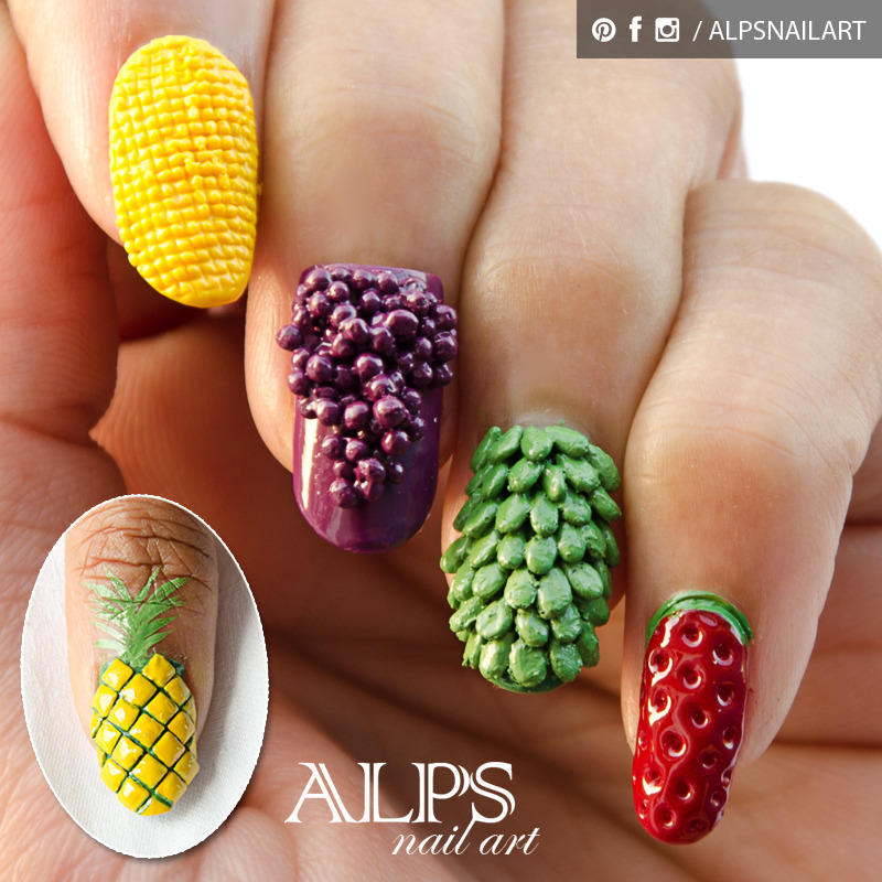 Fruit Nails by Alpsnailart nail art by Alpsnailart