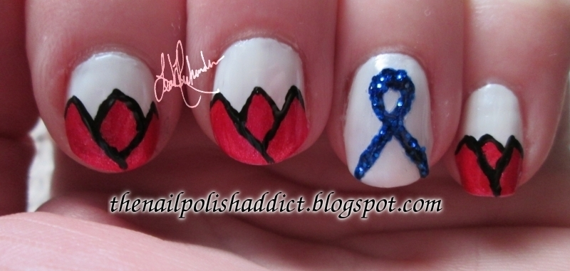 World Parkinson's Day Manicure  nail art by Leah
