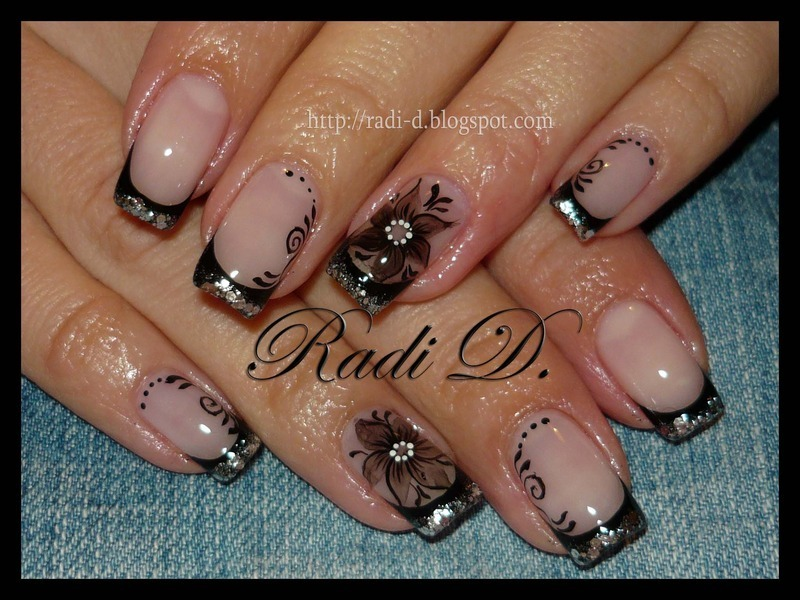 Stylish and Sparkling nail art by Radi Dimitrova