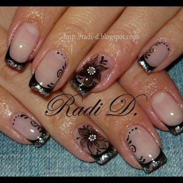 Stylish and Sparkling nail art by Radi Dimitrova