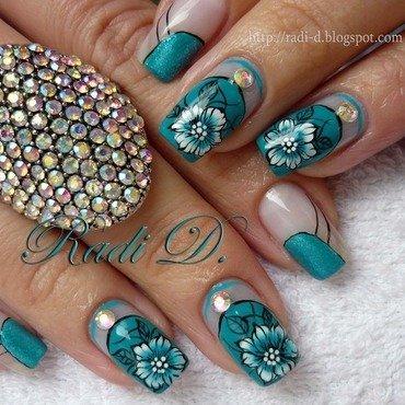 Turquoise Beauty nail art by Radi Dimitrova