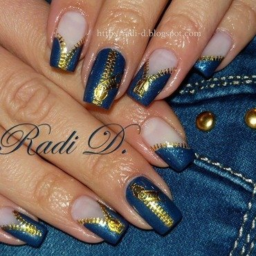 Jeans on! nail art by Radi Dimitrova